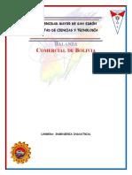 Trab 1 Inv. de Merc. Balanzas comerciales de Bolvia