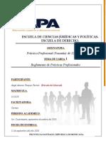 Tarea I de Práctica Profesional (Pasantía) de 120 horas.