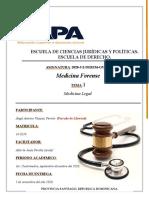 Tarea I de Medicina Forense