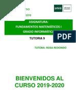 FUNDAMENTOS MATEMATICOS I TUTORIA 9 19 20