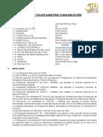 SÍLABO DE TALLER SABATINO DE COMUNICACION A Y B