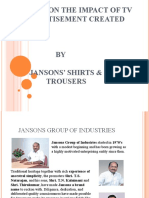 A study on the impact of TV      Advertisement created