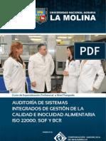 AUDITORÍA DE SISTEMAS INTEGRADOS DE GESTIÓN DE LA CALIDAD E INOCUIDAD ALIMENTARIA ISO 22000, SQF Y BCR