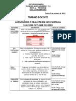 TRABAJO DOCENTE 5 AL 9 OCTUBRE