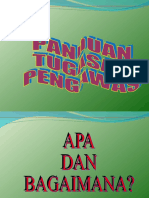 PANDUAN TUGAS PENGAWAS