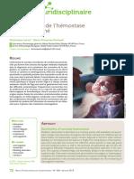 Particularités de l'hémostase du nouveau-né