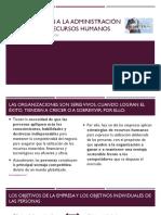 Introducción a la administración moderna de recursos humanos