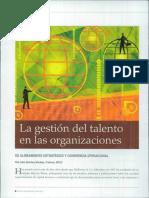 La gestión del talento en las organizaciones su alineamiento estratégico y coherencia operacional