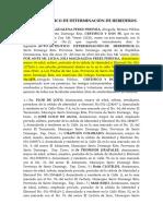 ACTO AUTENTICO DE DETERMINACIÓN DE HEREDEROS
