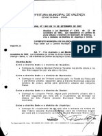 Lei nº 1.903 - Atualiza o Perímetro Urbano do Município de Valença e cria os Distritos de Jequiriça e Orob