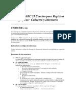 Formato MARC 21 Conciso para Registros Bibliográficos- Cabecera y Directorio