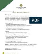 Curso en operaci+¦n de m+íquinas CNC 2014 - 2
