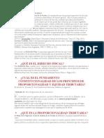 """DERECHO FISCAL CONCEPTOS DE """"PROPORCIONALIDAD Y EQUIDAD"""""""