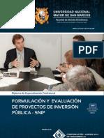 FORMULACIÓN Y EVALUACIÓN DE PROYECTOS DE INVERSIÓN PÚBLICA - SNIP