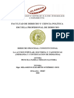 DEMANDA Y CONTESTACION DE DEMANDA ACCION POPULAR