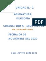 """Unidad N.- 2 Primeros A,B,C,D,Intensivos """"Octavio Cordero Palacios"""""""