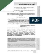 Los Principios Rectores Del Sistema Disciplinario Policial en El Perú - Autor José María Pacori Cari