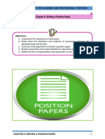 CHAPTER 9 - WRITING A POSITION PAPER