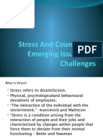 Stress And Counselling, Emerging Issues And Challenges