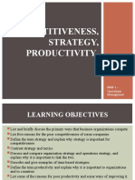 Competitiveness, Strategy, Productivity