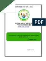 LIST OF ESSENTIAL MEDICINE FOR ADULT IN RWANDA.pdf