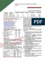 Fiche de notation, NSIA Banque Côte d'Ivoire