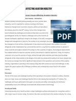 Contemporary Issues Affecting Aviation