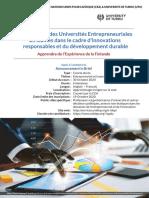ECA-UTU Inov & Entrepreneurship announcement French