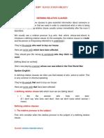 GRAMMAR-DEFINING RELATIVE CLAUSES
