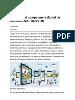 La _falta de_ competencia digital de los docentes _ XarxaTIC