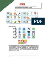 ATIVIDADE 1 ANO PDF CLOTHES AND PETS