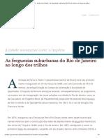 Rio de Janeiro - História da Cidade - As freguesias suburbanas do Rio de Janeiro ao longo dos trilhos