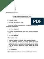 FPTTC08 Diseño Estructural. PROYECTO CLASES
