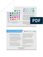 My Favorite Color by Aaron Becker Teacher Tip Card