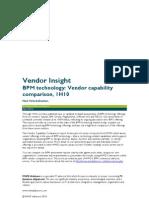 MWD Advisors BPM technology Vendor capability comparison, 1H 2010_071445