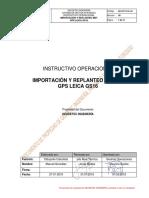 GEO-PST-016-I-58 Importación y Replanteo de MDT GPS LEICA GS16 Rev.00