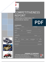Competitiveness report-M & M