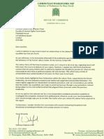 Christian Wakeford Letter