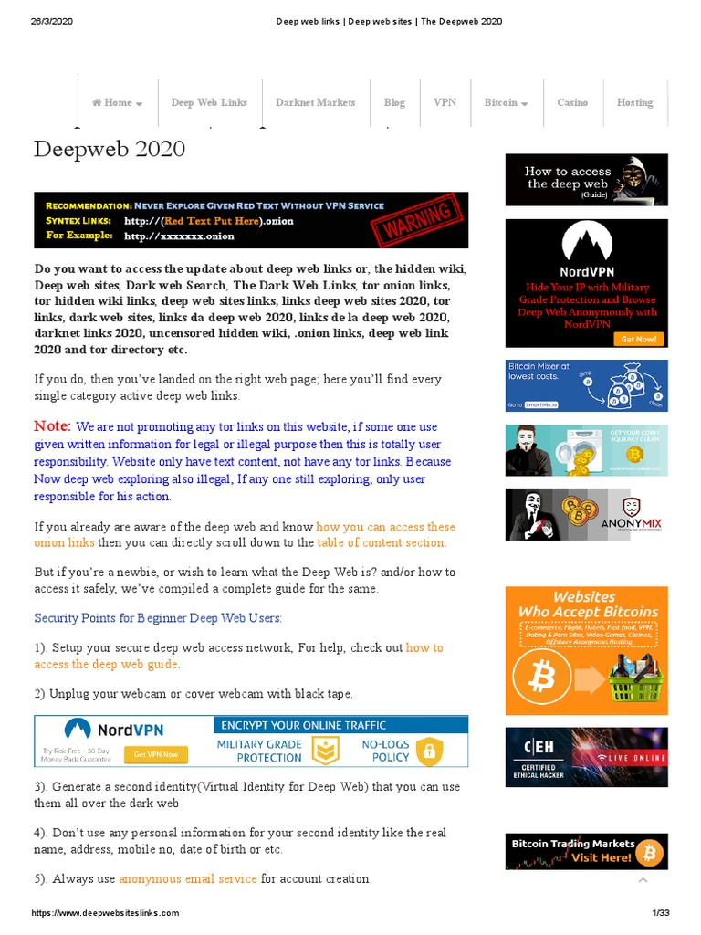 Safe Deepweb Serfing PDF   PDF   Tor (Anonymity Network)   World Wide Web