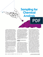 Sampling for Chemical Analysis (Analytical Chemistry)