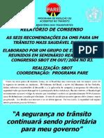 Seminário SBOT Relatório final