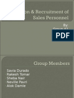 recruitment & selection of sales personnel finale