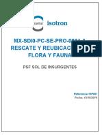 ANEXO 53 MX-SDI0-PC-SE-PRO-0024-A Rescate y Reubicación de Flora y Fauna