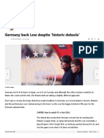 Germany back Low despite 'historic debacle'
