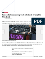 Rumor_ Celtics exploring trade into top-3 of tonight's NBA Draft