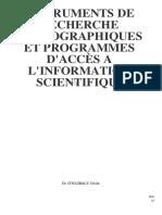 Leçon 2 - Instruments de recherche bibliographique et programmes