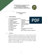 Silabo Entomología Agrícola 2020-I SEGUNDO CARBAJAL