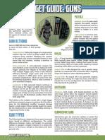 Mutants & Masterminds 3e - Gadget Guide - Guns