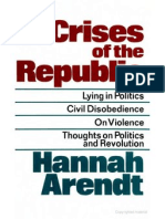 Arendt - Crises of the Republic