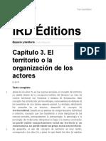 Espacio y territorio - Capítulo 3. El territorio o la organización de los actores - IRD Éditions.pdf